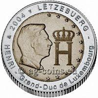 "Luxembourg 2 euro coin 2005 /""Grand Duke Henri /& Grand Duke Adolphe/"" UNC"